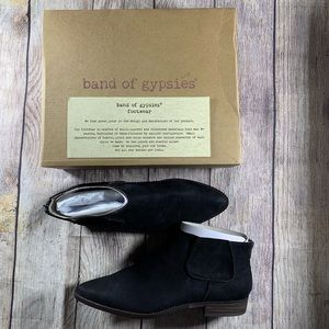 NWT Band Of Gypsies Black Madison Bootie Size 10